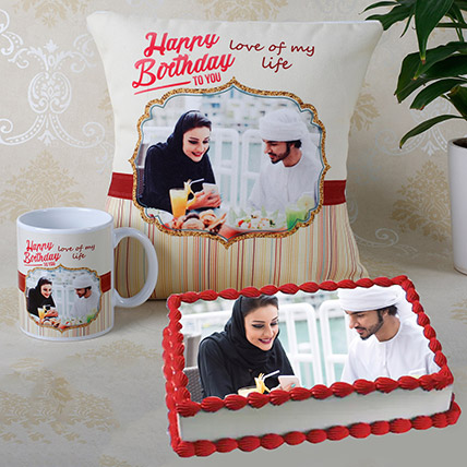 Personalised Cushion Mug And Cake Combo: Personalised Combos