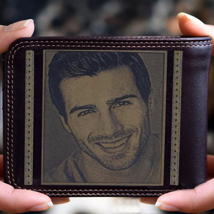 Personalised Mens Wallet With Photo: Personalised Gifts to Ras Al Khaimah