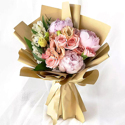 Pink Elegance Bouquet: Flower Delivery