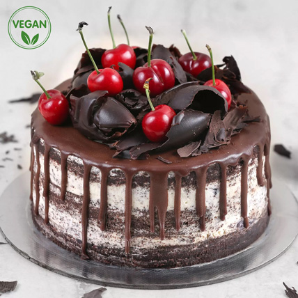 Black Forest Vegan Cake:
