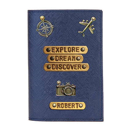 Personalised Discover Passport Cover: