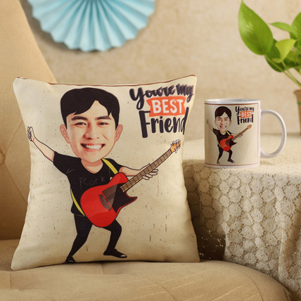 My Best Friend Personalised Cushion & Mug: Friendship Day Gifts