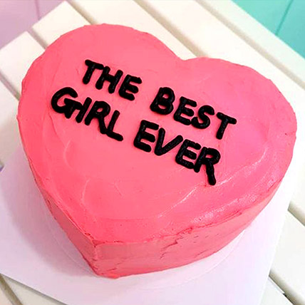 Heartful Emotions Love Cake: Heart Shaped Cake Delivery
