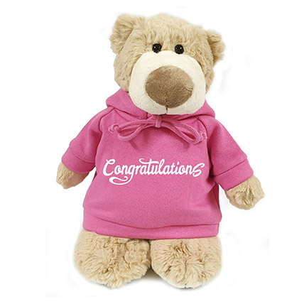 Soft Mascot Bear With Congrats Hoodie:
