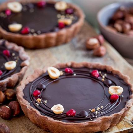 Belgian Chocolate and Hazelnut Tart: Tarts