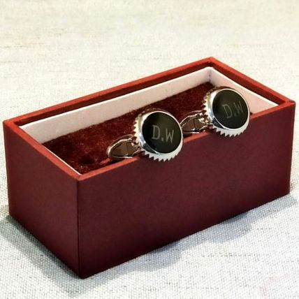 Personalised Cufflings:  Engraved Personalised Gifts