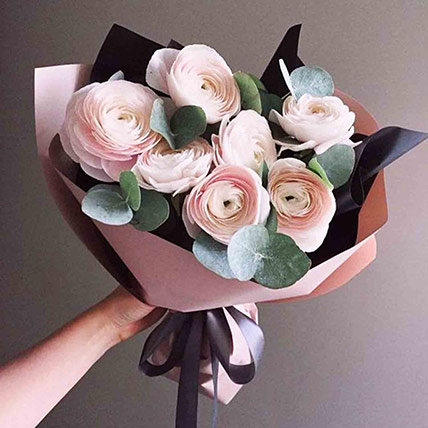 Pastel Pink Floral Bouquet: Flower Delivery
