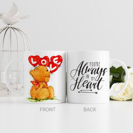 Cute Teddy White Mug: Teddy Day Gifts