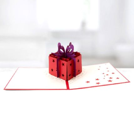 Best Wishes Gift Box 3D Card: Greeting Cards