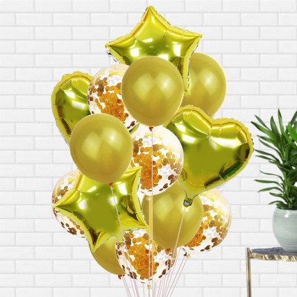 Golden Latex and Foil balloons: Balloons