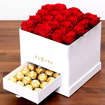 Classic Red Roses Arrangement: Flower Delivery