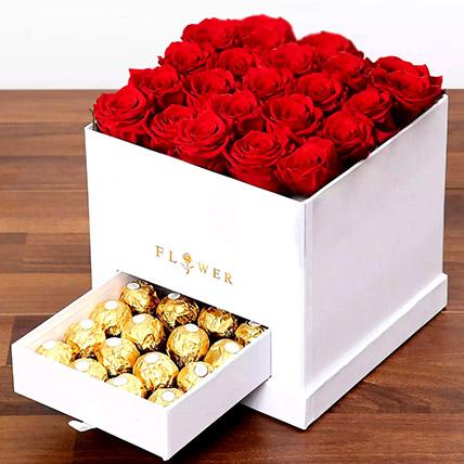 Classic Red Roses Arrangement: Happy Birthday Flowers
