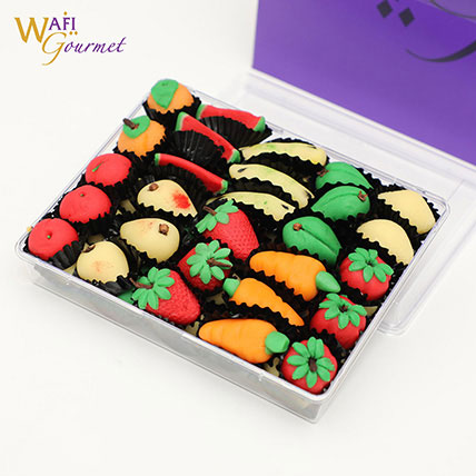 Box of Marzipan Fruits Shaped Sweets: Ramadan Desserts
