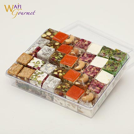 Mixed Malban and Nougat Gift Box 1.035kg: Arabic Desserts