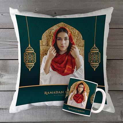 Happy Ramadan Personalised Cushion N Mug Combo: