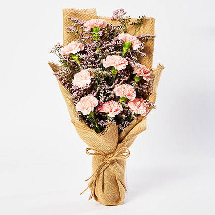 Lovely Pink Carnations Bouquet: Flower Bouquets