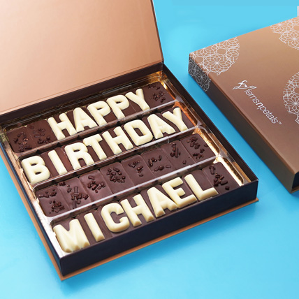 Customized Birthday Chocolate: Personalised Gifts for Girlfriend