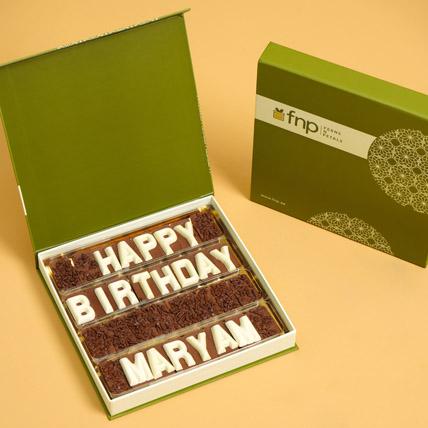 Customized Happy Birthday Chocolate: Birthday Gifts for Boyfriend