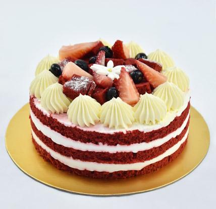 4 Portions Red Velvet Cake: Farewell Cakes