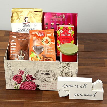 Valentine Special Chocolate and Coffee Hamper: Valentine Gift Hampers