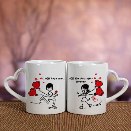 White Love Mugs: Promise Day Gifts