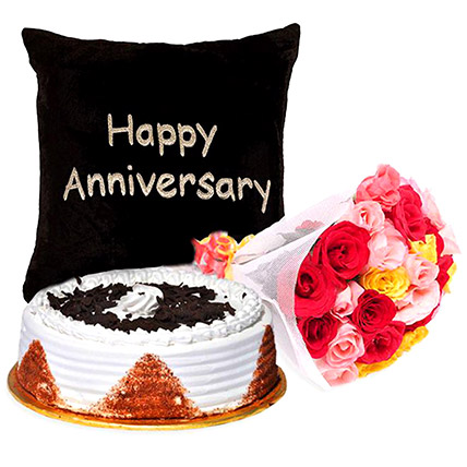 Happy Anniversary Sweet Floral Combo: Pakistan Gift