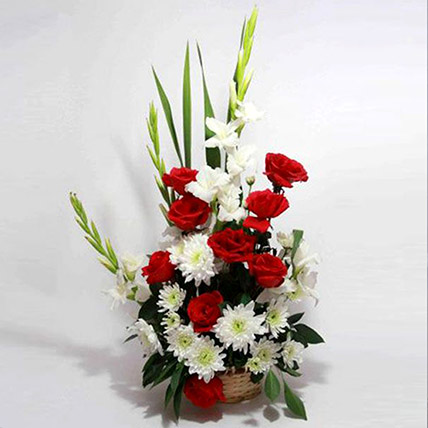 Love Sensation Floral Basket: Pakistan Gift