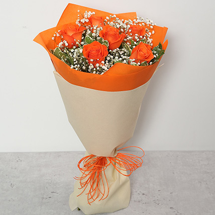 Bouquet Of Orange Roses QT: Send Gifts to Qatar