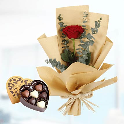 Red Rose Paper Wrap & Godiva Chocolates: Send Gifts to Qatar