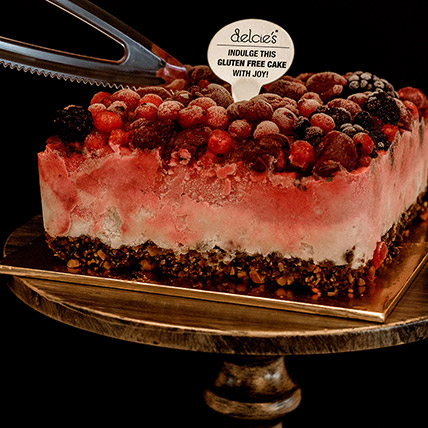 5in Square Mixed Berry Nutty Ice Cream Cake:  Cake Shop Singapore