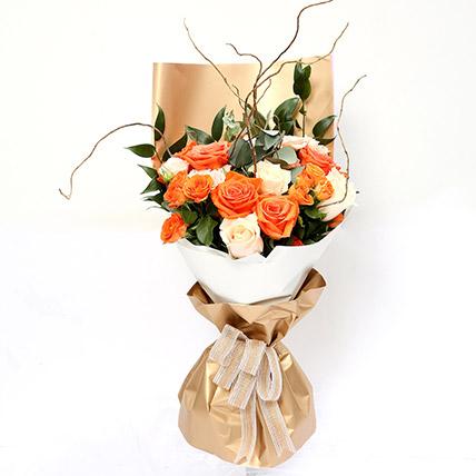 Midsummer Mixed Roses Bouquet SG: Florist Singapore