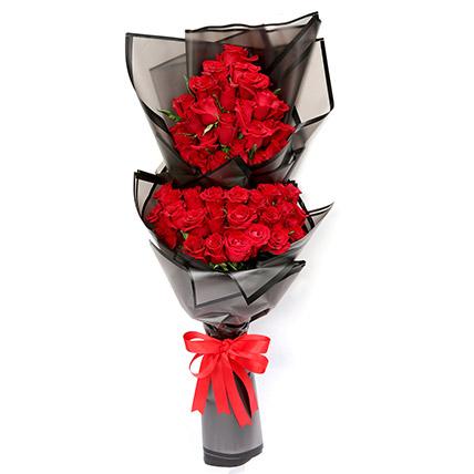 50 Luxurious Red Roses Bouquet SG: Florist Singapore