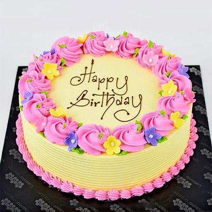 Vanilla Ribbon Cake:  Gift Delivery In Sri Lanka