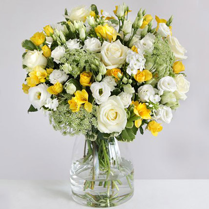 The Lemon Floral Arrangement:  Gifts UK