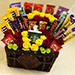 Exotic Flowers and Chocolates Basket
