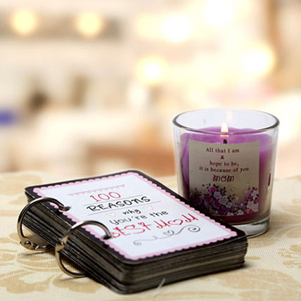 100 Reasons For Best Mom and Candle