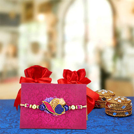 Boxes with floral rakhi