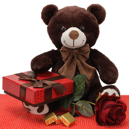Teddy With Chocolates