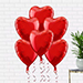 Helium Filled Heart Shaped Balloons