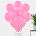 Helium Filled Pink Latex Balloons