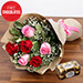 Pink And Red Roses With Free Chocolates