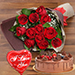 Red Roses & Fudge Cake Love