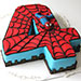 Fourth Year Spiderman Marble Cake