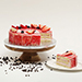 Strawberry Flavour Eggless Cake- 1.5 Kg