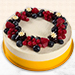 Yummy Vanilla Berry Delight Cake- 1 Kg