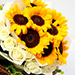 Charming Roses and Sunflower Bouquet SG
